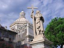 Standbeeld van St Agatha In Catania, Italië stock afbeelding