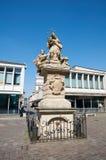 Standbeeld van St John Nepomucene, Oud Marktvierkant poznan Stock Fotografie