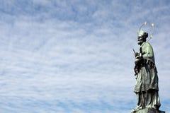 Standbeeld van St. John van Nepomuk Royalty-vrije Stock Foto's