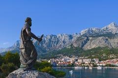 Standbeeld van St. Peter in Makarska, Kroatië royalty-vrije stock foto's