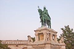 Standbeeld van St Stephen in Boedapest Royalty-vrije Stock Foto's
