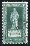Standbeeld van telling Camillo Bensi di Cavour royalty-vrije stock afbeelding