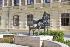 Standbeeld van Telling Gyorgy in Keszthely, Meer Balaton, Hongarije royalty-vrije stock foto