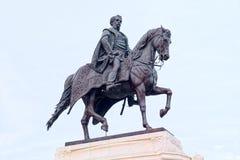 Standbeeld van Telling Gyula Andrassy in Boedapest, Hongarije royalty-vrije stock fotografie