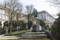 Standbeeld van Tellingen Egmont en Hoorn in Brussel Stock Afbeeldingen