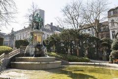 Standbeeld van Tellingen Egmont en Hoorn in Brussel Stock Foto