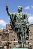 Standbeeld van Trajan - Roman Forum - Rome - Italië Royalty-vrije Stock Foto