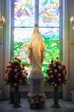 Standbeeld van Vergin Mary in kerk, Thailand royalty-vrije stock foto