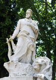 Standbeeld van Victor Hugo stock afbeeldingen