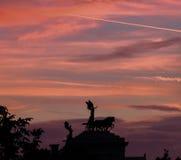 Standbeeld van Vittorio Emanuele II monument in Rome Stock Foto's