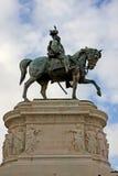 Standbeeld van Vittorio Emanuele II in Rome Itlay Stock Afbeelding