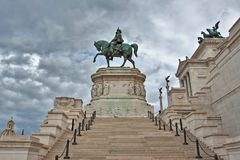 Standbeeld van Vittorio Emanuele in Rome, Italië. Royalty-vrije Stock Afbeeldingen