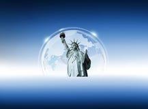 Standbeeld van vrijheid Stock Afbeeldingen