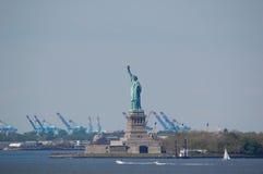 Standbeeld van Vrijheid, de Stad van New York Stock Foto