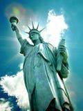 Standbeeld van Vrijheid in de Stad van New York Royalty-vrije Stock Foto
