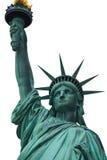 Standbeeld van Vrijheid & de Zonsondergang van de Stad van New York Royalty-vrije Stock Foto