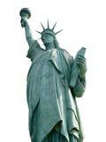 Standbeeld van Vrijheid die op Wit wordt geïsoleerdi Stock Fotografie