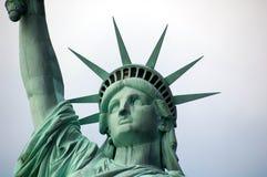 Standbeeld van Vrijheid - Gezicht en Kroon Stock Foto