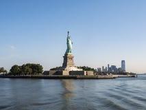 Standbeeld van Vrijheid - 31 Juli, 2017, Liberty Island, de Haven van New York, NY Royalty-vrije Stock Foto's