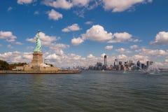 Standbeeld van Vrijheid in New York, de V royalty-vrije stock afbeelding