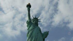 Standbeeld van Vrijheid in New York - Tijdtijdspanne stock videobeelden