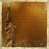 Standbeeld van vrijheid op de abstracte achtergrond Stock Foto's