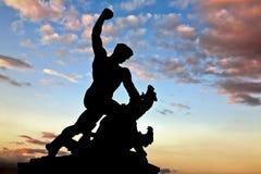 Standbeeld van Vrijheid op Gellert Heuvel, Boedapest Stock Afbeeldingen