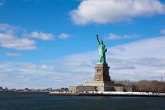 Standbeeld van Vrijheid op tribune royalty-vrije stock foto