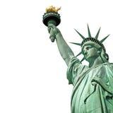 Standbeeld van Vrijheid op witte achtergrond wordt geïsoleerd die Royalty-vrije Stock Foto's