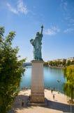 Standbeeld van Vrijheid in Parijs Stock Foto's
