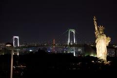 Standbeeld van Vrijheid in Tokyo stock fotografie