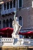 Standbeeld van vrijheid in Venetië stock foto