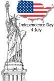 Standbeeld van Vrijheid (Vrijheid die de Wereld informeert Stock Fotografie