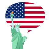 Standbeeld van vrijheids nationaal monument in de illustratiedesi van Amerika vector illustratie