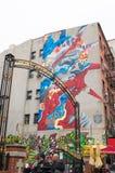 Standbeeld van Vrijheidsgraffiti royalty-vrije stock fotografie