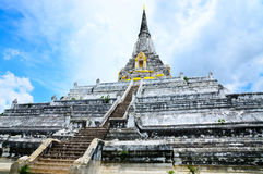 Standbeeld van Wat Yai, Ayuttaya Stock Fotografie