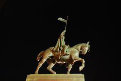Standbeeld van Wenceslas in Praag Stock Foto's