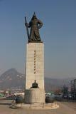 Standbeeld van Yi-zon-Scheenbeen, Koreaanse Zeebevelhebber, beroemd voor zijn vic Stock Afbeelding