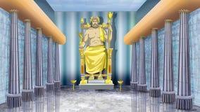 Standbeeld van Zeus in Olympia royalty-vrije illustratie