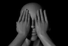Standbeeld verbergende ogen vector illustratie