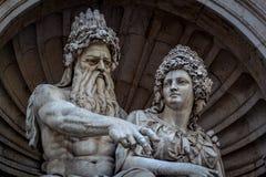 Standbeeld in Wenen Royalty-vrije Stock Foto