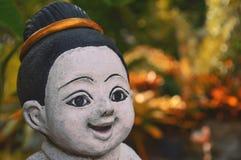 Standbeeldbaby - pop Thai, haarbundel Stock Foto's