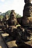 Standbeelden Angkor, Kambodja Stock Foto