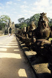 Standbeelden Angkor, Kambodja Royalty-vrije Stock Foto