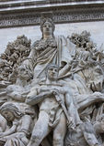 Standbeelden Arc de Triomphe royalty-vrije stock foto's