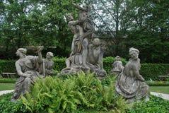 Standbeelden bij de WÃ ¼ rzburg Woonplaats, WÃ ¼ rzburg, Duitsland Stock Afbeelding