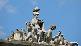 Standbeelden bij het Paleis van Mogosoaia Royalty-vrije Stock Foto's