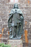 Standbeelden bij Hohenzollern-Kasteel Burg Hohenzollern stock foto
