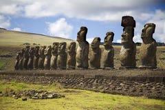 Standbeelden bij Pasen eiland stock foto