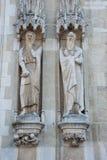 Standbeelden buiten Stadhuis Royalty-vrije Stock Fotografie